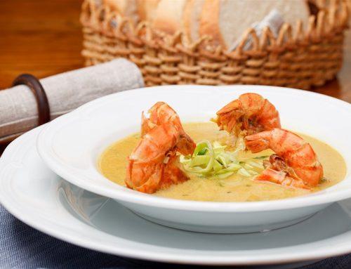 Σούπα ελαιόλαδου με γαρίδες