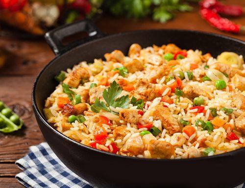 Τηγανητό ρύζι με γαλοπούλα,  λαχανικά και τζίντζερ