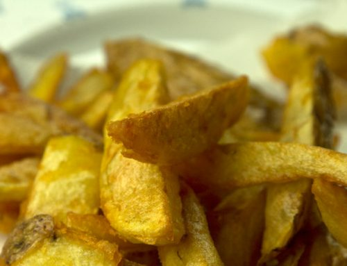 Τραγανές πατάτες τηγανητές, τριπλομαγειρεμένες